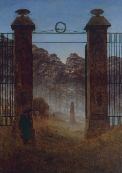 Friedrich, Casper David: The Cemetery. Fine Art Print/Poster. Sizes: A4/A3/A2/A1 (003896)